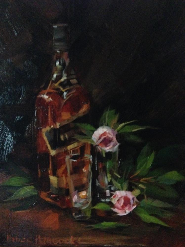 """Black Label and Roses"" original fine art by Bruce Hancock"