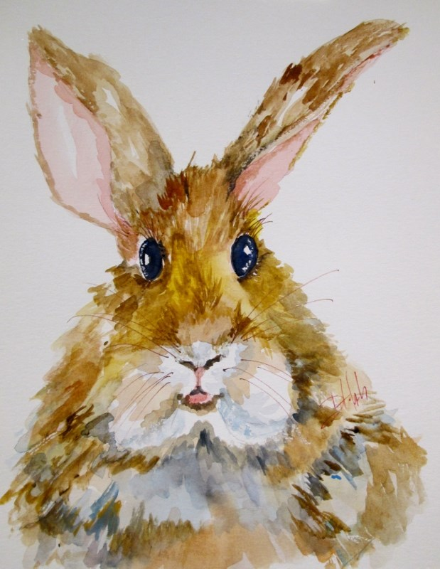 """Rabbit"" original fine art by Delilah Smith"