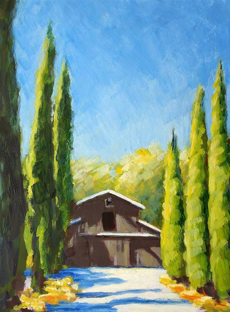 """Wine Barn Big"" original fine art by J. Farnsworth"