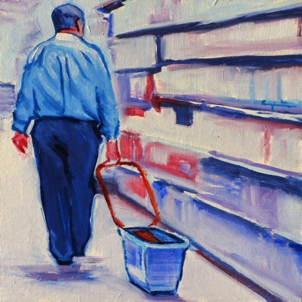 """""""Una compra sencilla"""" original fine art by Eduardo Carpintero"""