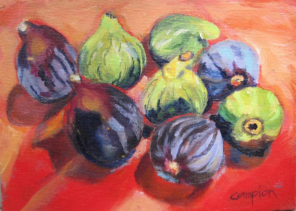 """Beltane Ranch Figs"" original fine art by Diane Campion"