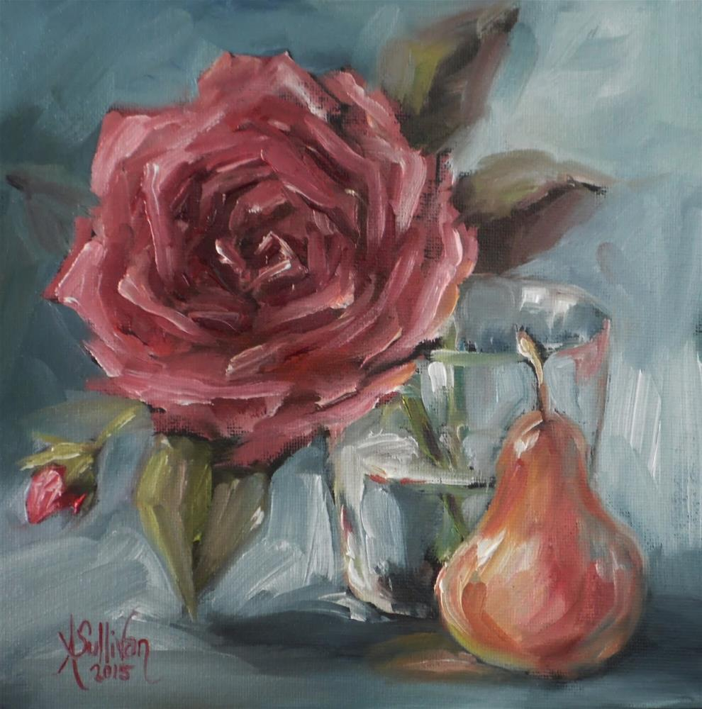 """Just A Little Glass Full still life painting by Alabama Artist Angela Sullivan"" original fine art by Angela Sullivan"