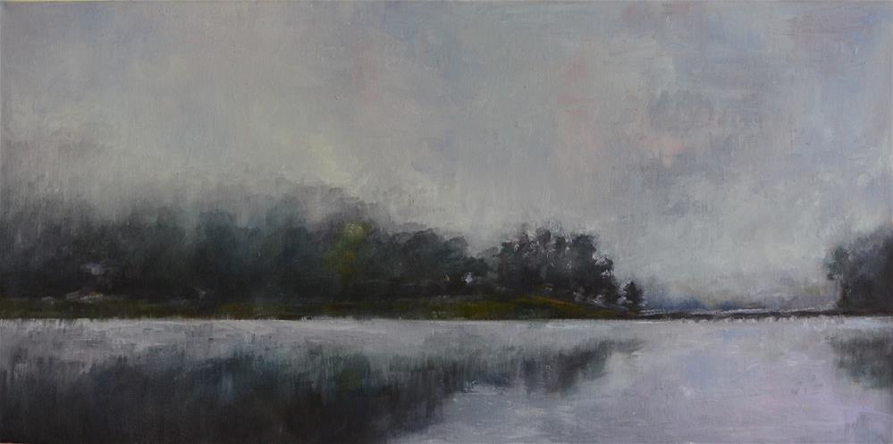 """Misty Lake Junaluska"" original fine art by Sun Sohovich"