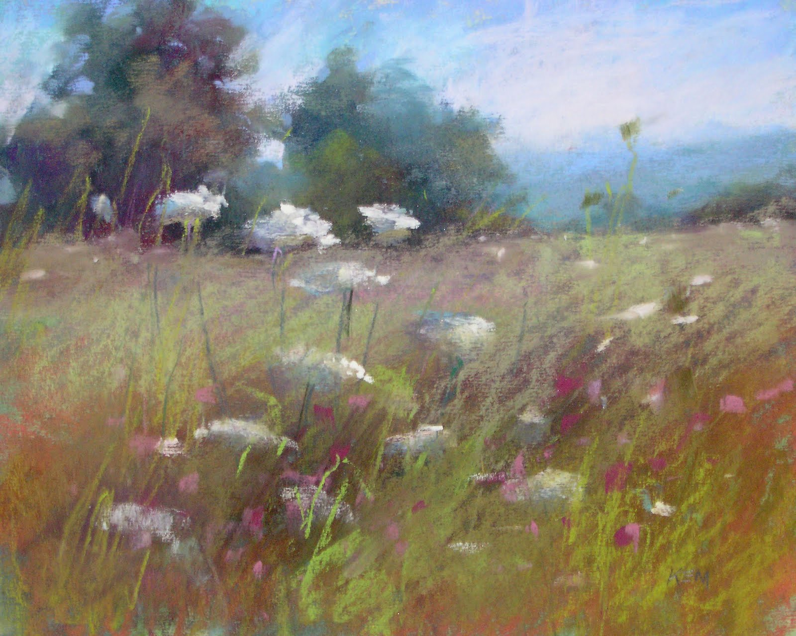 """Field of Dreams  8x10  pastel"" original fine art by Karen Margulis"
