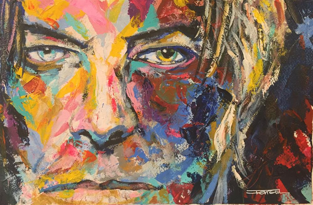 """DAVID BOWIE -Portrait-"" original fine art by Ferran Llagostera"