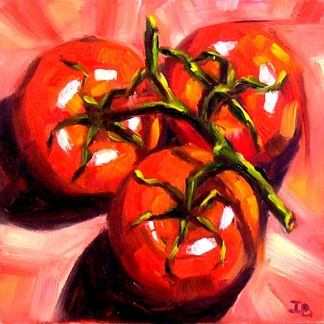 """Red On Red"" original fine art by Irina Beskina"