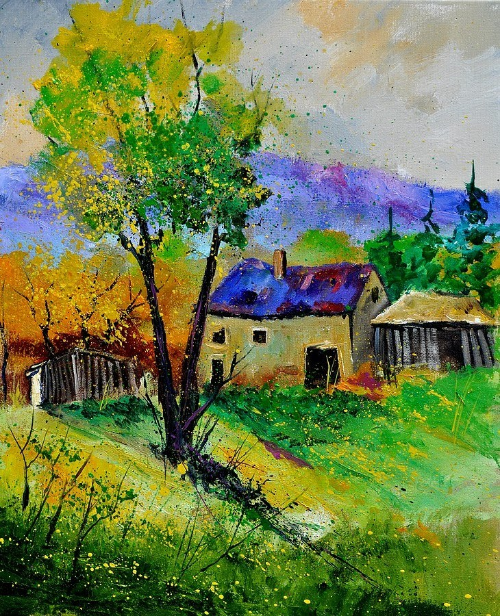 """summer landscape"" original fine art by Pol Ledent"