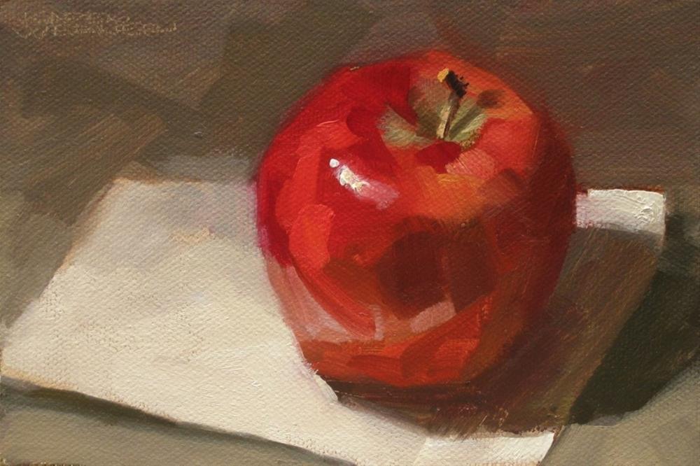 """""""Apple"""" original fine art by Karen Werner"""
