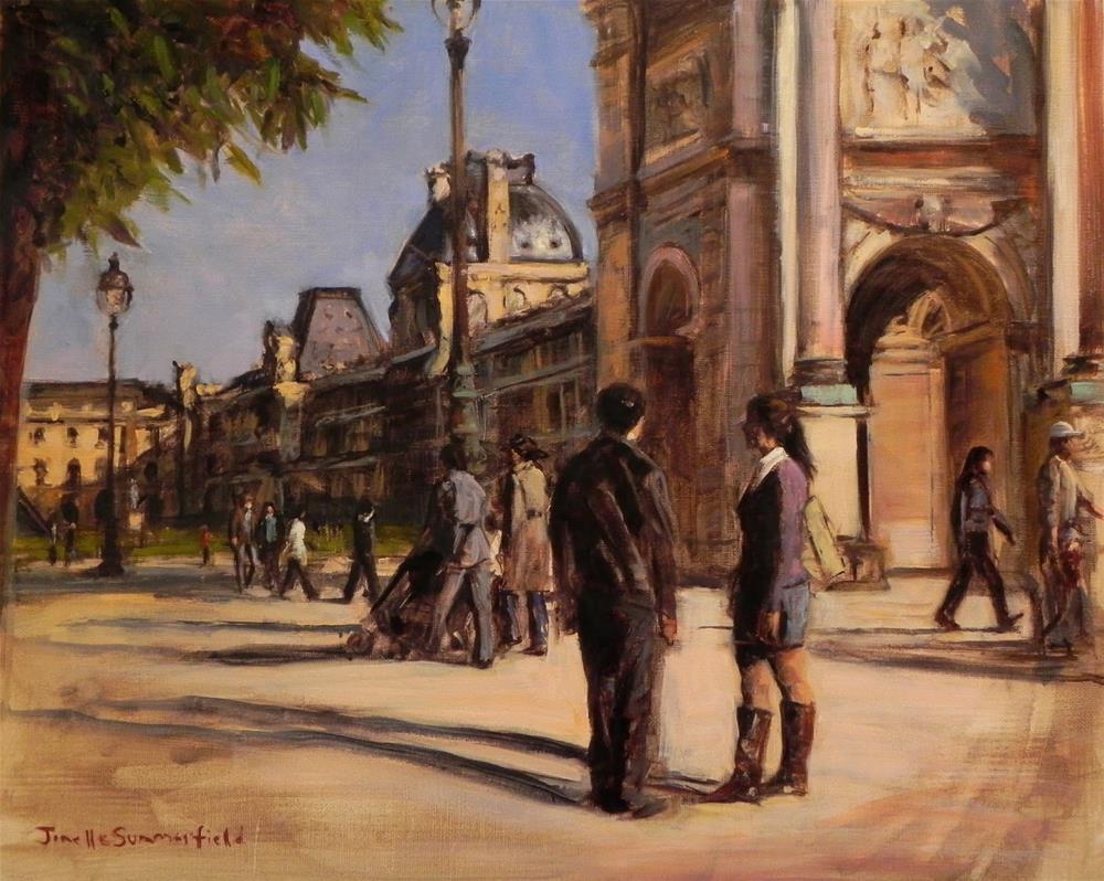 """""""Louvre Courtyard II"""" original fine art by Jonelle Summerfield"""