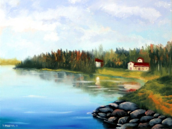 """Mark Adam Webster - River Landscape Oil Painting 3-13-11"" original fine art by Mark Webster"