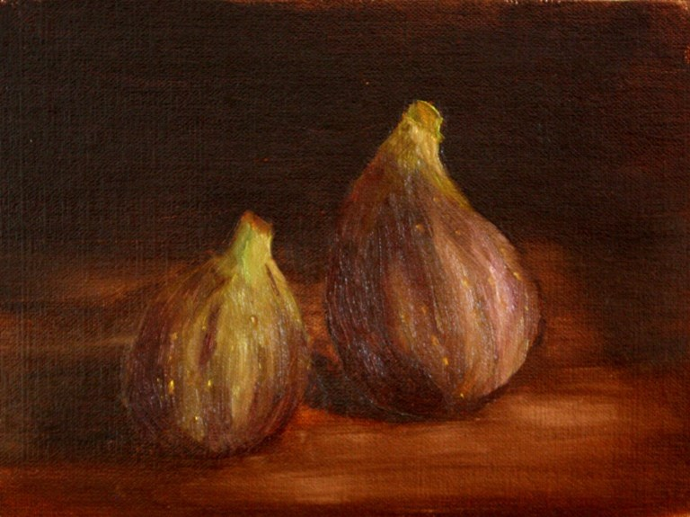 """Two Figs"" original fine art by Mary Datum"