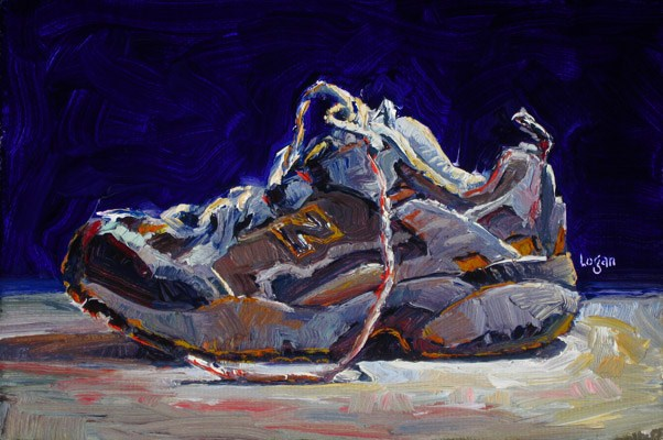 """Just a Not-So-Old Shoe"" original fine art by Raymond Logan"