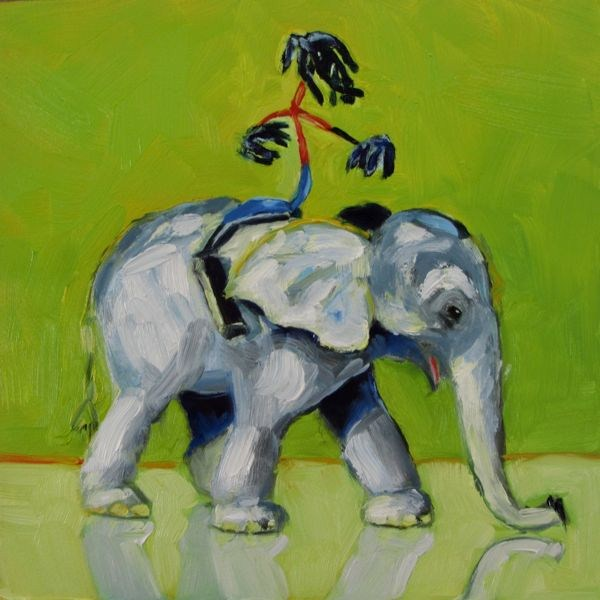 """Joe Bender on Safari"" original fine art by Mb Warner"