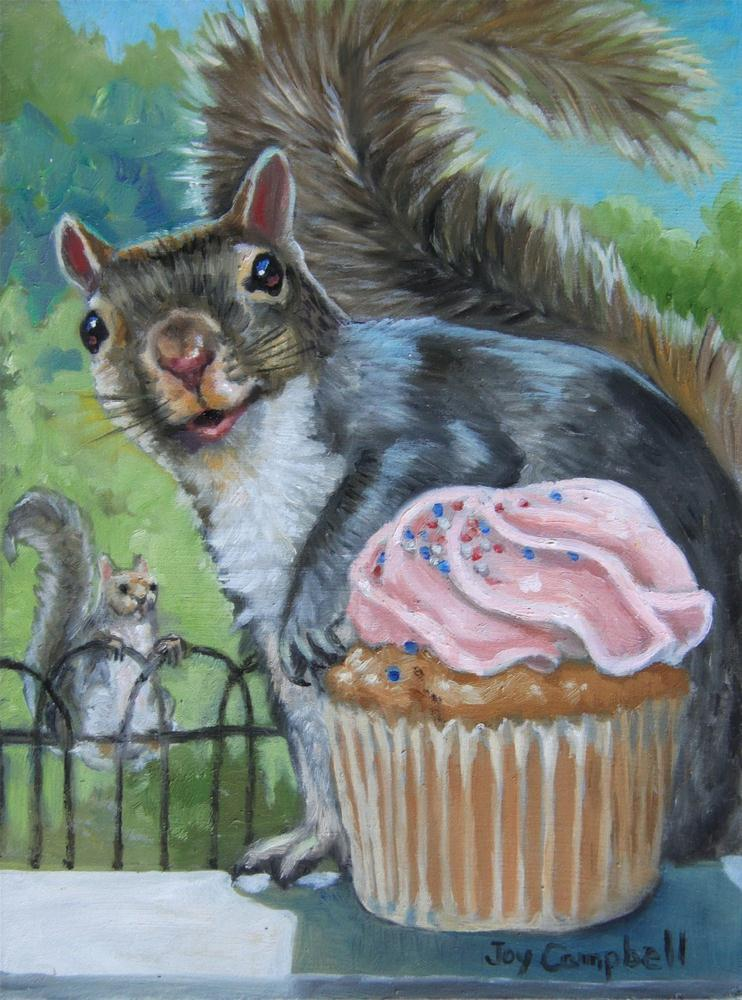 """A Found Cupcake"" original fine art by Joy Campbell"
