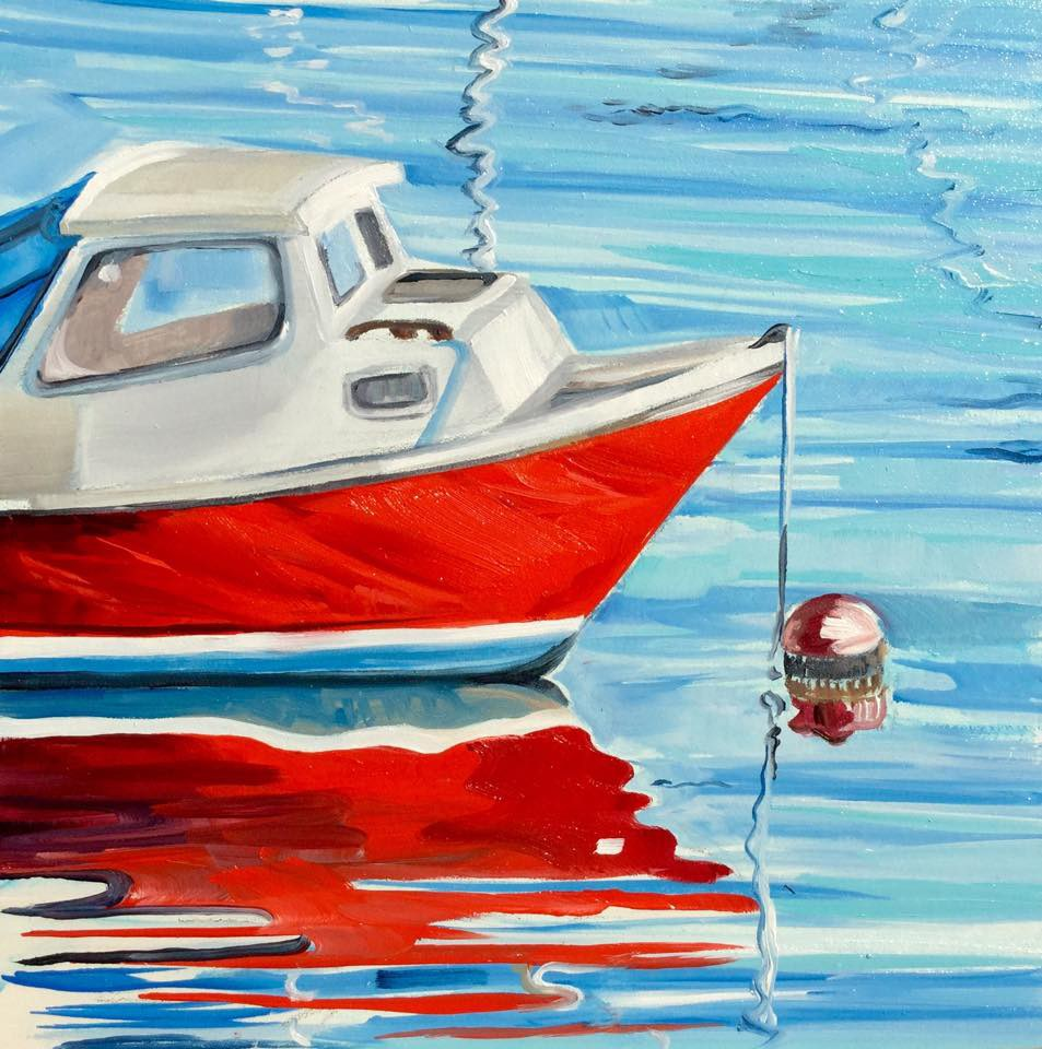 """Crimson Reflection"" original fine art by Lauren Kuhn"