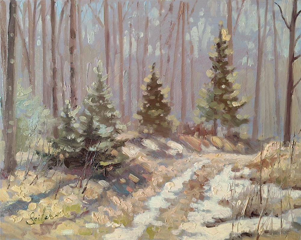 """What's Left of Winter"" original fine art by Larry Seiler"