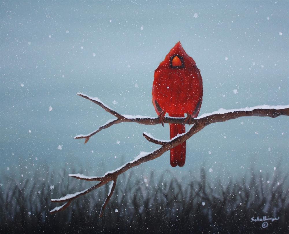 """""""Snowy Sentinel"""" original fine art by Fred Schollmeyer"""