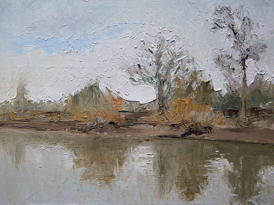 """Bank Reflection"" original fine art by Jethro Knight"