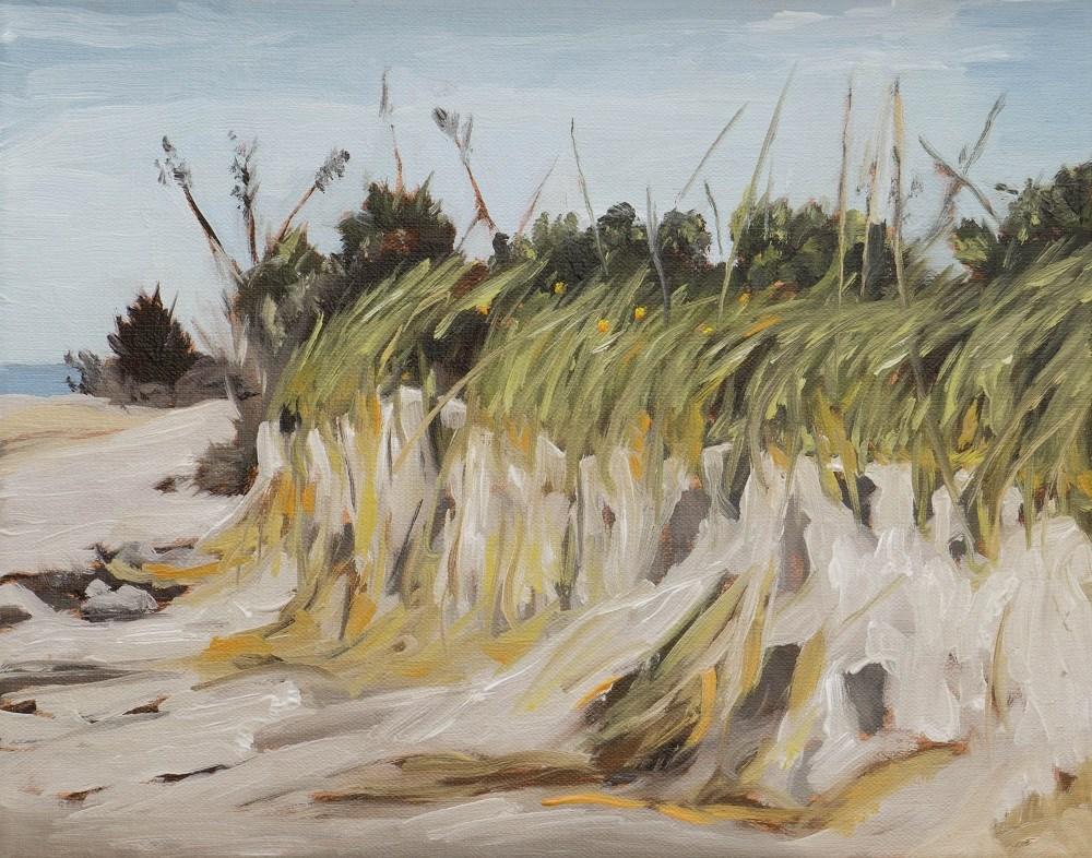 """Grassy dune on Ft. DeSoto Beach"" original fine art by Tim Gier"