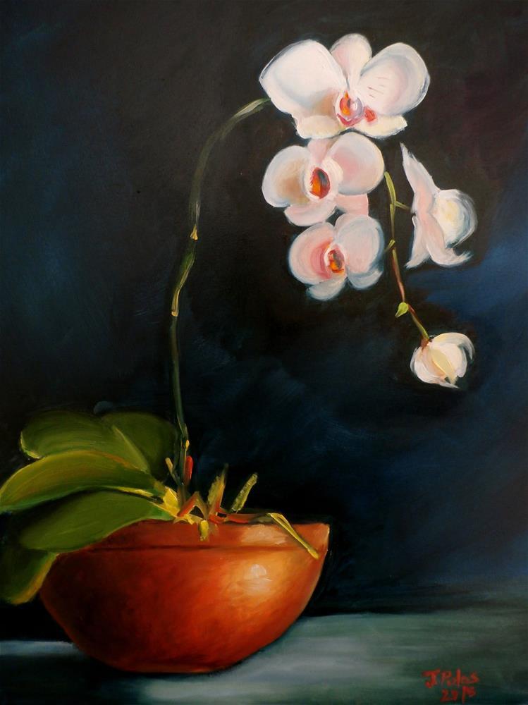 """""""Majestic Orchid"""" original fine art by Joann Polos"""