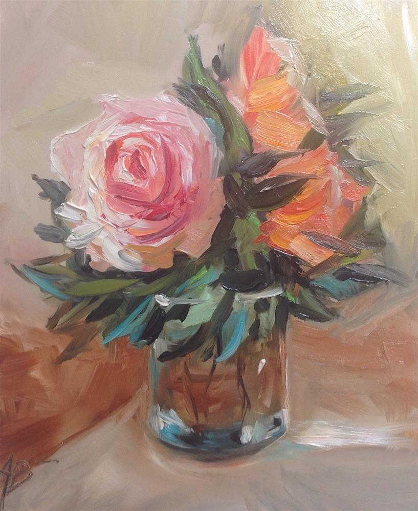 """Floral with Vase"" original fine art by Annette Balesteri"