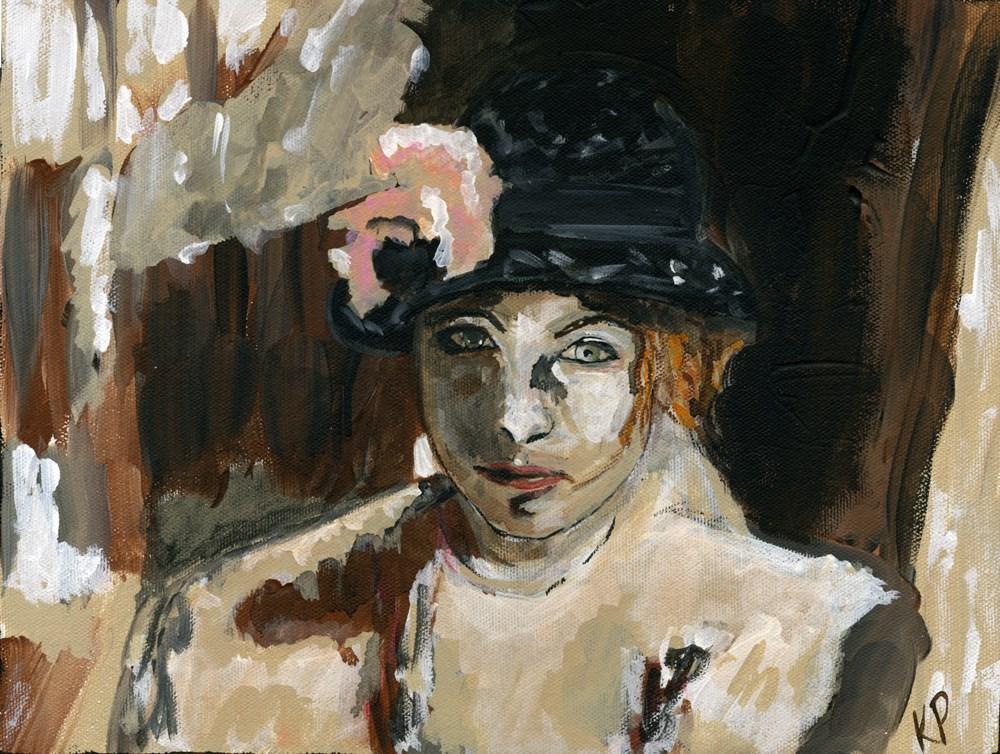 """Grandmother's Hat"" original fine art by Kali Parsons"