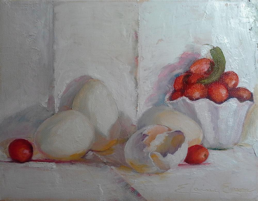 """Omelet Anyone?"" original fine art by Elaine Evans"