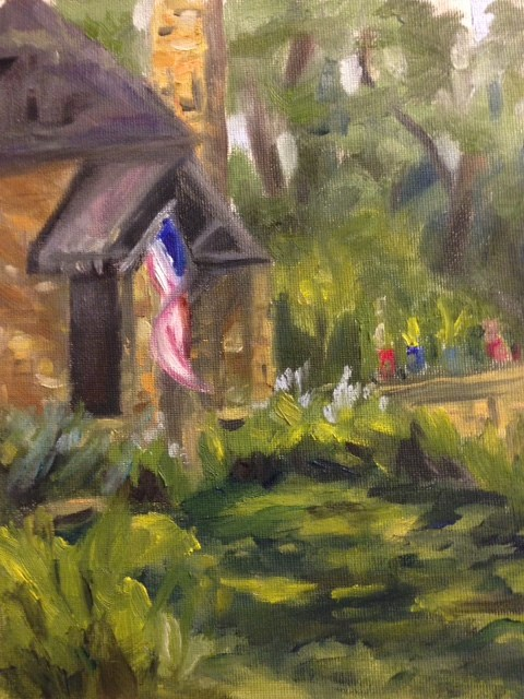 """Summer Porch"" original fine art by Marjie Laizure"