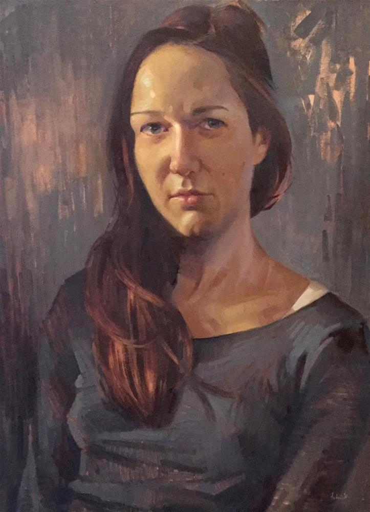 """Self-Portrait at 36"" original fine art by Sarah Sedwick"