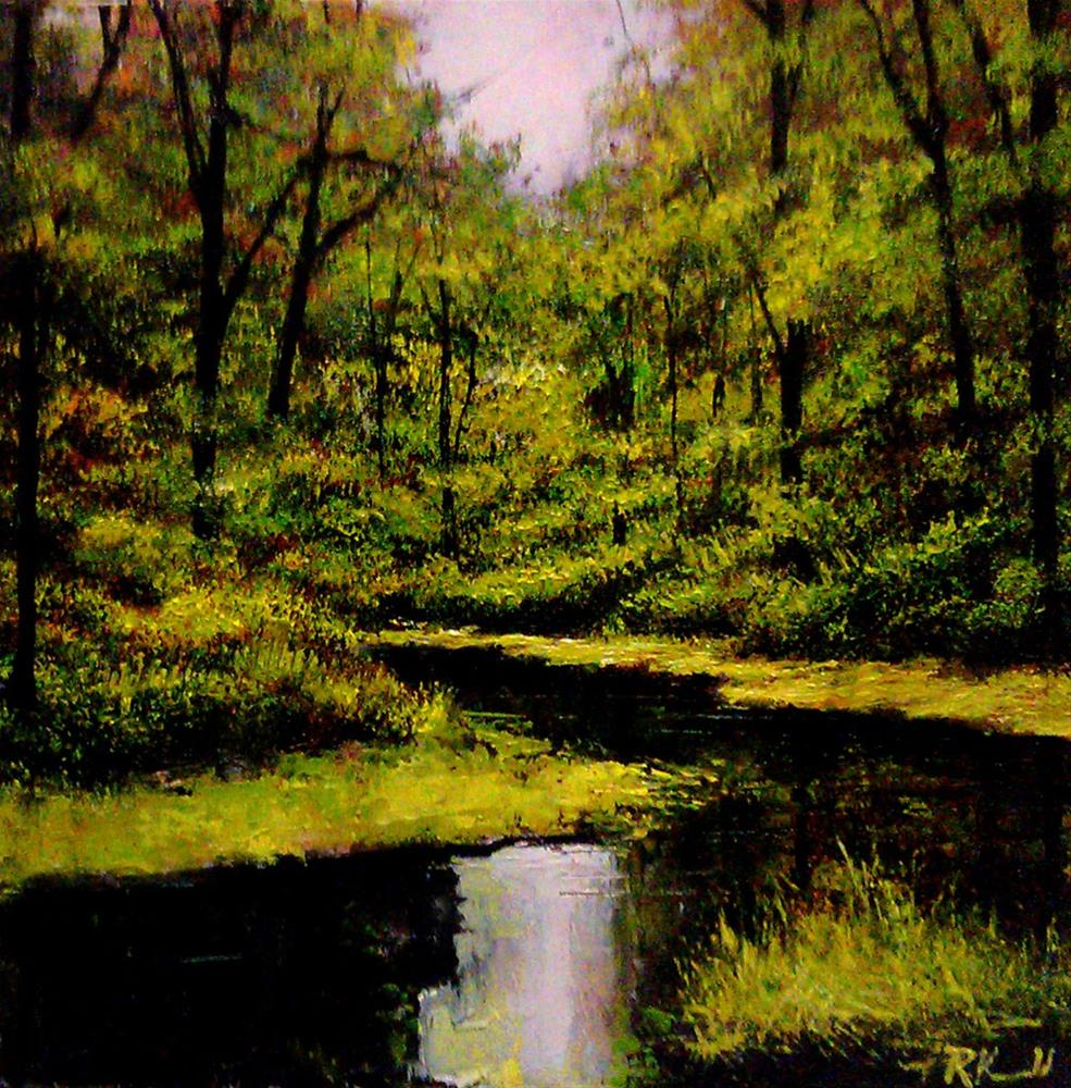 """Shallow River"" original fine art by Bob Kimball"