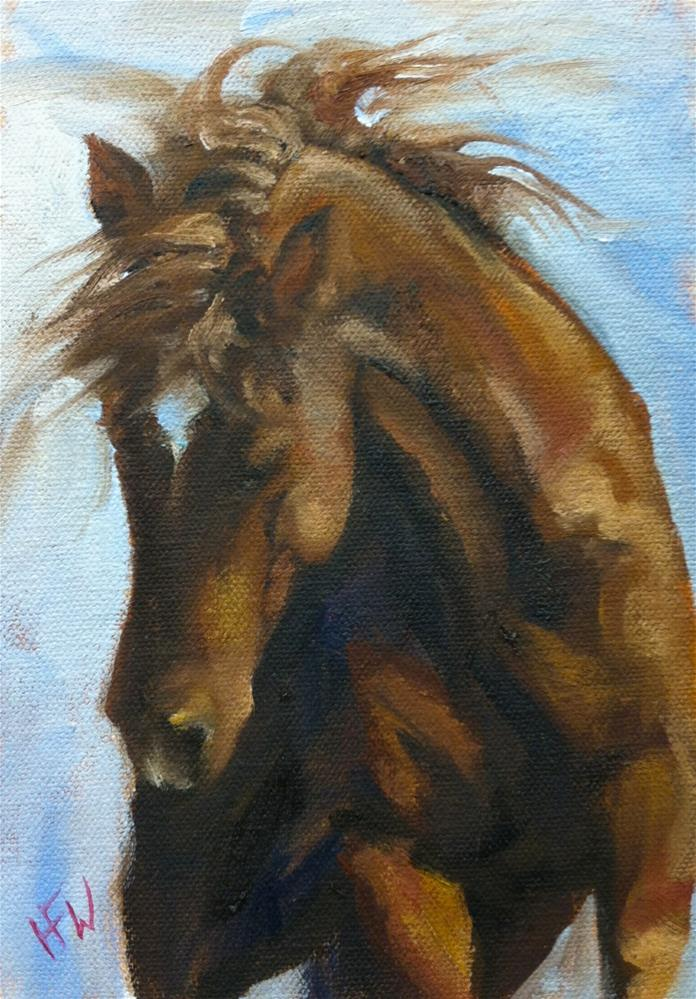 """Wild Hair Day"" original fine art by H.F. Wallen"