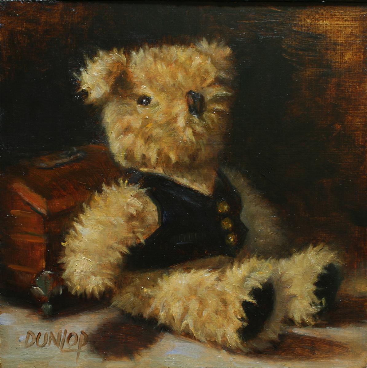 """""""Mr Bear"""" original fine art by Bobbi Dunlop"""