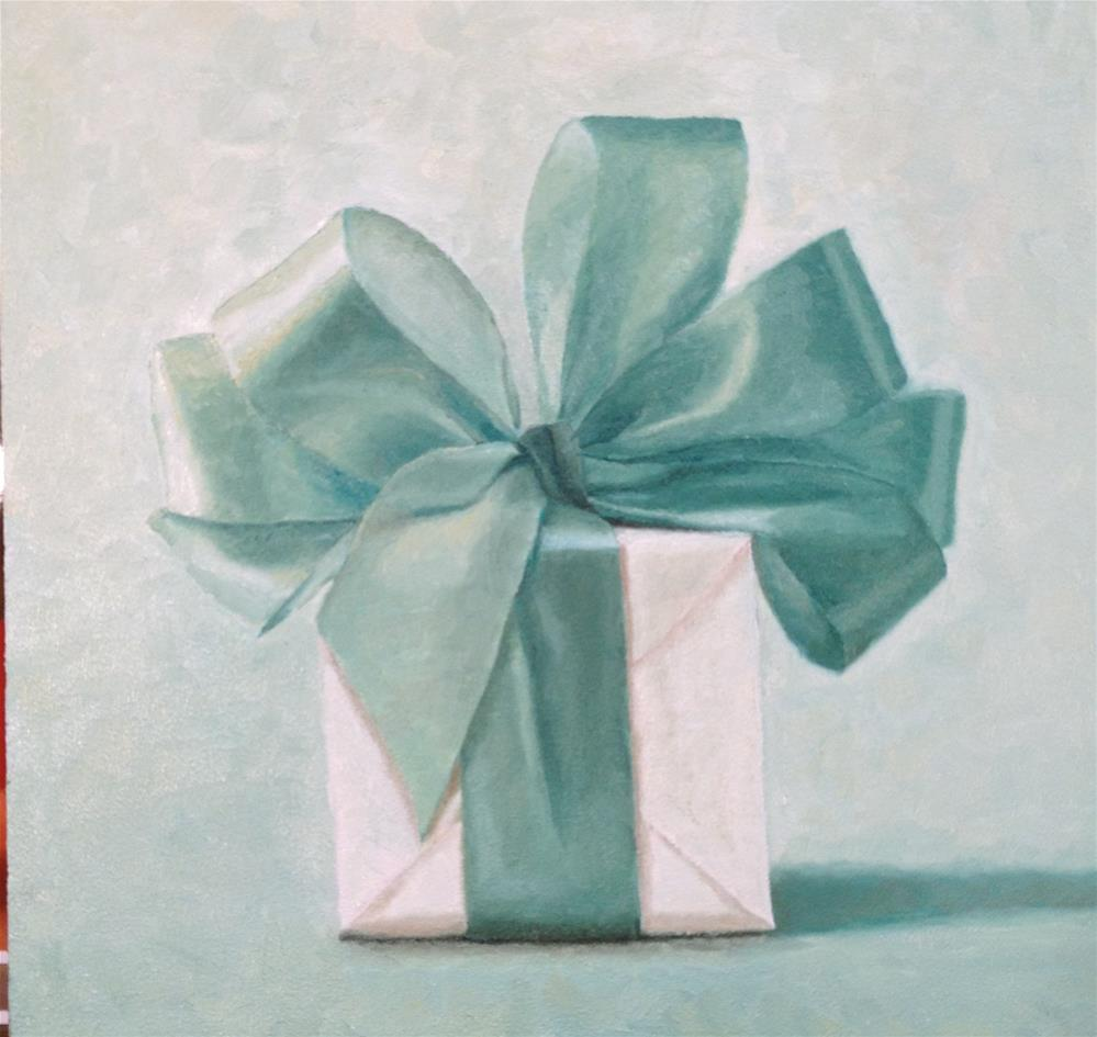 """The Teal Ribbon"" original fine art by Susan Fern"