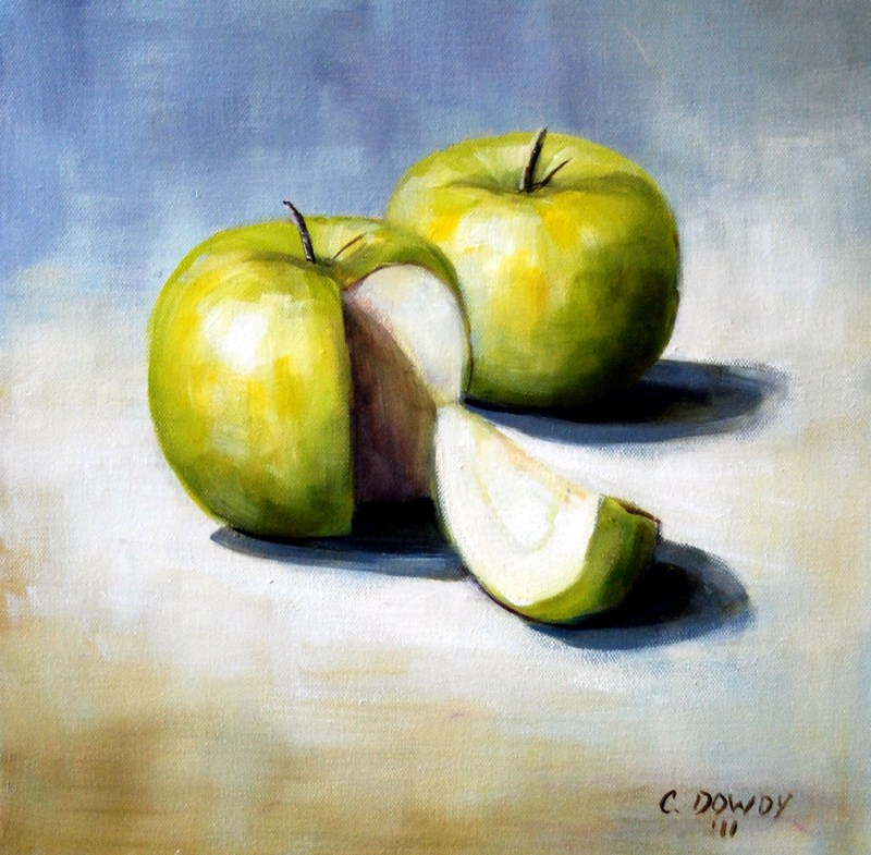 """Green Apples"" original fine art by Christina Dowdy"