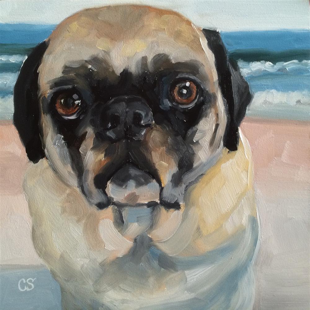 """Jessie at the Beach"" original fine art by Carol Stickley"