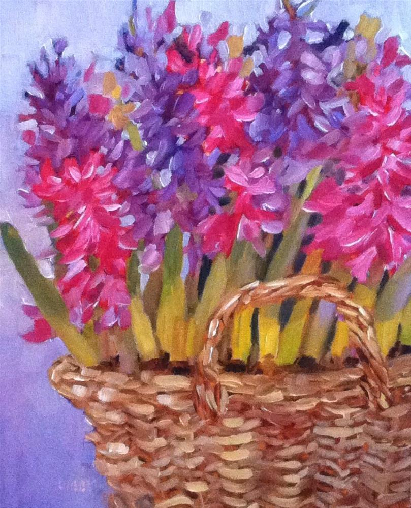 """Hyacinth Basket"" original fine art by Libby Anderson"