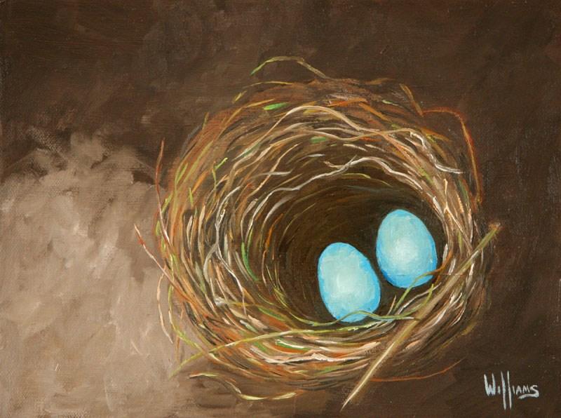 """Robins Nest"" original fine art by Sunny Williams"