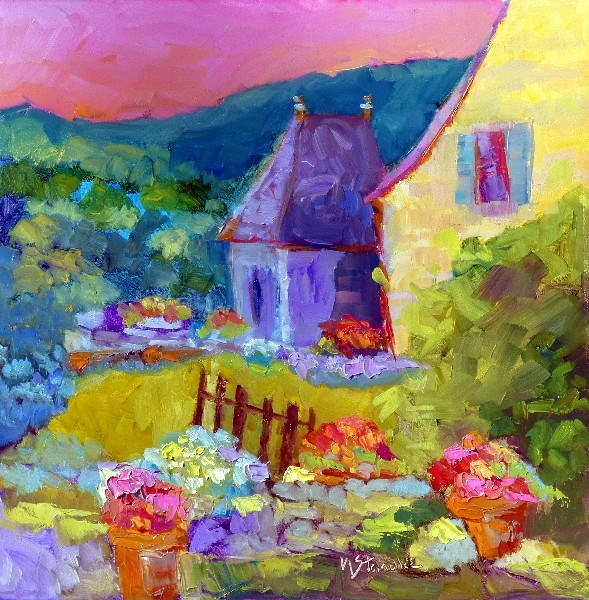 """French House 13037 (SOLD)"" original fine art by Nancy Standlee"