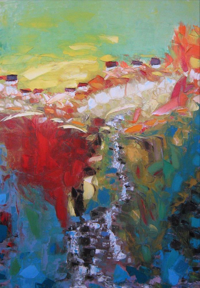 """Gold-bearing creek"" original fine art by Elena Lunetskaya"