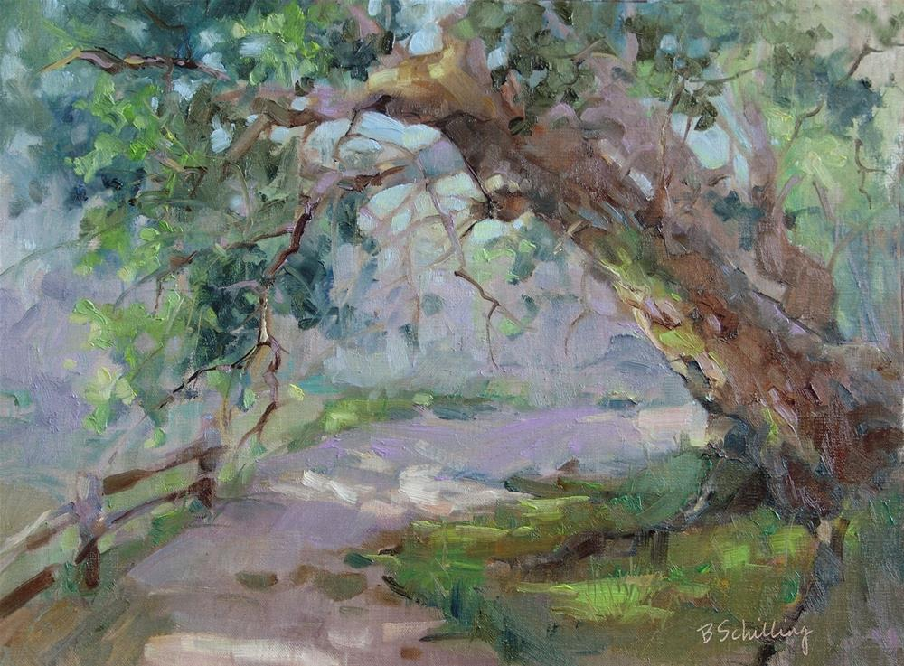 """If a Tree Could Talk What a Tale it Might Tell"" original fine art by Barbara Schilling"