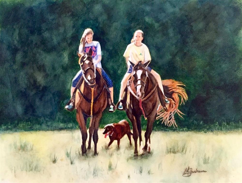 """Sisters"" original fine art by Melissa Gresham"