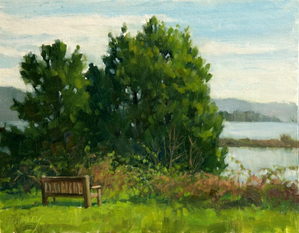 """View Through The Brambles"" original fine art by Kathy O'Leary"