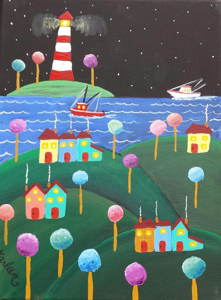 """Guided By the Light"" original fine art by Karleen Kareem"