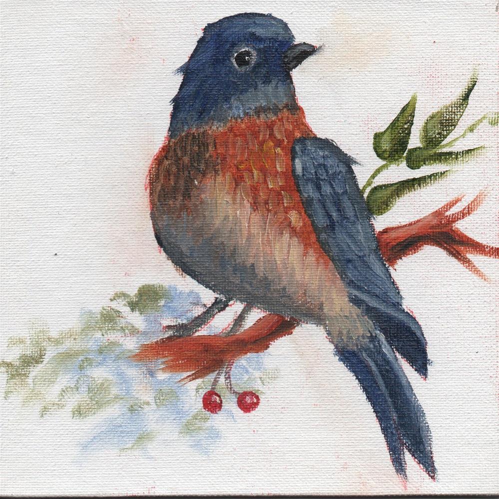 """""""Bluebird"""" original fine art by Richard St.Jean"""