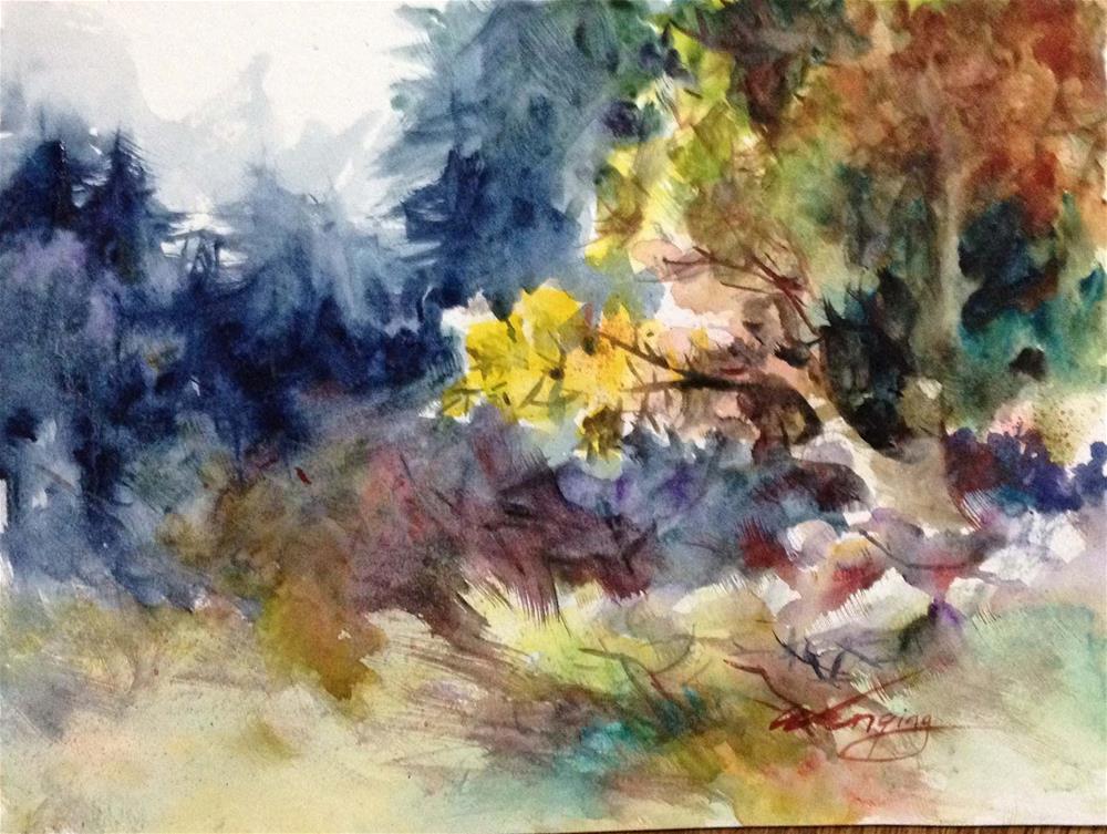 """""""fall2"""" original fine art by Wenqing Xu"""