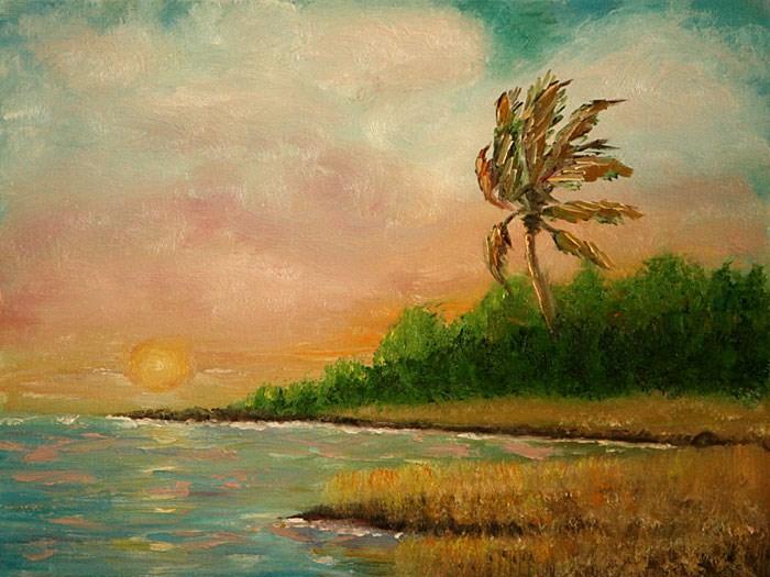 """Coastal  Paradise"" original fine art by Sunny Williams"