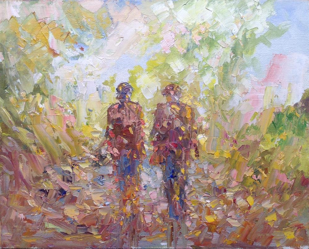 """Two is company"" original fine art by Joseph Mahon"