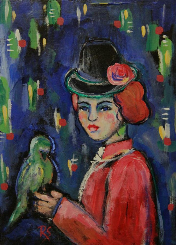"""""""Un Petite Oiseau"""" original fine art by Roberta Schmidt"""
