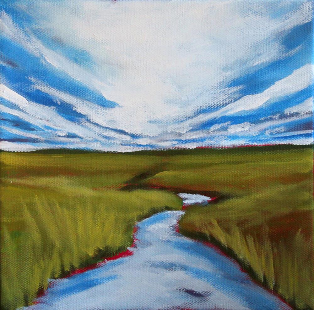 """Marsh Cloud Reflection"" original fine art by Tricia Granzier"