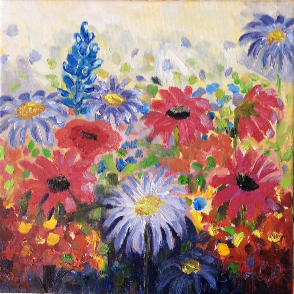 """Summer Garden"" original fine art by Sharon Cullen"